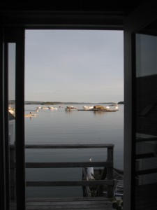 The Inn on the Harbor, in Stonington, Maine, provides a front row seat on all the action in the harbor, from lobster boats to windjammers. Hilary Nangle photo.