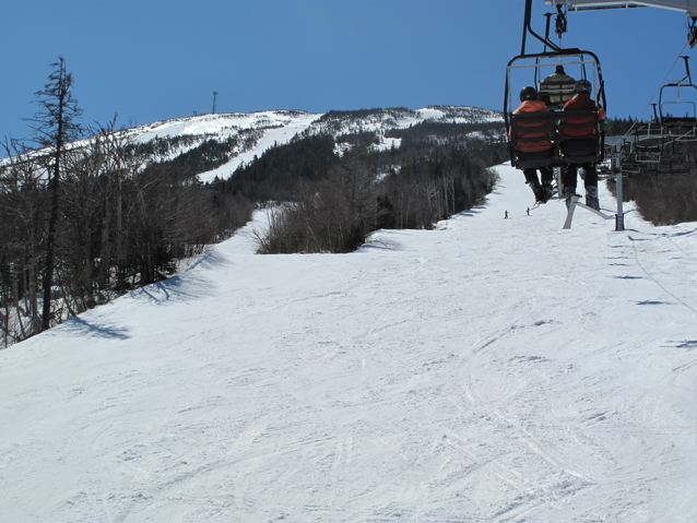 Heading up Spillway chair