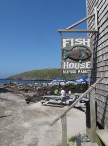 It doesn't get more rustic than Fish House Fish on Monhegan Island. ©Hilary Nangle
