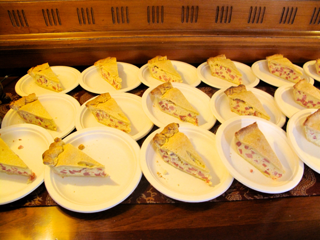 Save room for pizza rustica, served at the Limerock Inn. ©Hilary Nangle