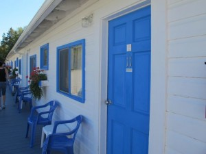 The Belle Isle Motel on Mount Desert Island has a some nice perks for a budget property: a heated outdoor pool, guest laundry, & barbecue. Hilary Nangle photo
