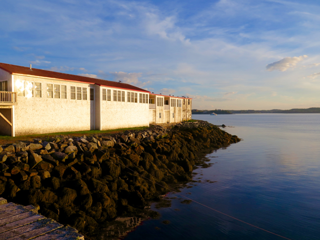 For an authentic seafaring heritage experience, stay at The Inn on the Wharf sited in a former sardine cannery on Lubec's waterfront. ©Hilary Nangle