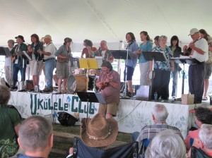The UMMUkulele Band is one of the highlights of the annual Grand Lake STeram Folk Arts Festival. Hilary Nangle photo.