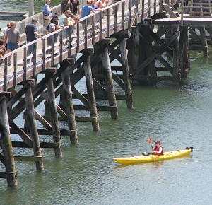 Sea kayaking is one way to cool off on a hot day in Maine. Hilary Nangle photo.