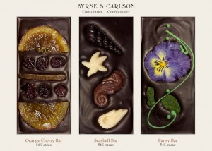 Byrne & Carlson's chocolate bars are both gorgeous to view and delicious to eat. Courtesy photo