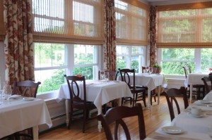 The new 10 Tables Restaurant, at the Bass Cottage Inn, in Bar Harbor, is an intimate dining venue serving dinner five nights. Tom Nangle photo.