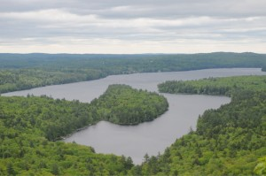 It's an easy hike to the summit ledges of French Mountain for panoramic views of the Belgrade Lakes. Tom Nangle photo.