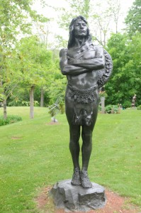 Sculpture at the Spring Gallery and Sculpture Garden, in Belgrade Lakes, Maine. Tom Nangle phtot.