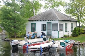 Fishermen have been coming to Maine's Belgrade Lakes Region for more than 100 years, and Castle Island Camps has been welcoming them since 1929. Tom Nangle photo.