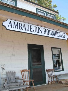 The only way to reach the Ambajejus Boom House, a National Historic Register-listed property dating from the great log drives on the West Branch of the Penobscot River, is via boat or snowmobile. Hilary Nangle photo.