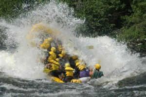 Cool off on a hot summer day with a whitewater rafting trip in Maine. courtesy Northern Outdoors.