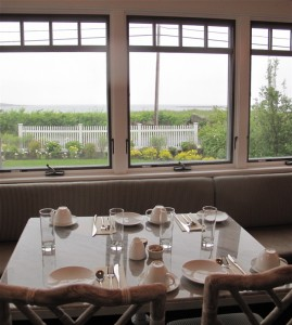 Chef Bryan Dame prepares fresh and local fare, served in the ocean view dining room at the Tides Beach Club, overlooking Goose Rocks Beach, in Kennebunkport, Maine.  Hilary Nangle photo.