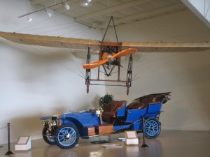 While there's plenty to see inside the Owls Head Transportation museum, on most summer weekends there are special events, including air shows and vintage car rallies. Hilary Nangle photo.