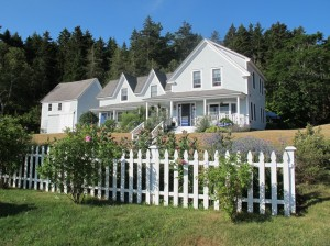 Elsa's Inn in Prospect Harbor is surrounded by gardens and overlooks a lobster boat-filled harbor. Hilary Nangle photo.