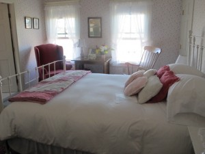 The rooms at Elsa's Inn, in Prospect Harbor, Maine, invite relaxing and gazing out the windows at the water views. Hilary Nangle photo.
