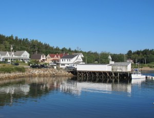 Every room at Elsa's Inn, in Prospect Harbor, Maine, has a view over lobster boat-filled waters. hilary nangle photo.