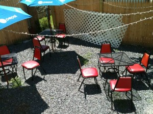 Hidden behind Fez Restaurant, is a nice outdoor patio seating area. Hilary Nangle photo.