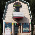 Check out the funky folk art downstairs and the fine art photos upstairs in the gallery adjacent to Elsa's Inn, in Prospect Harbor, Maine. Hilary Nangle photo.