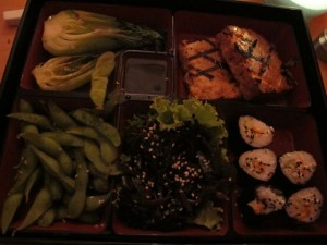 Eden's bento box is a vegan symphony of flavors and textures. Hilary Nangle photo.