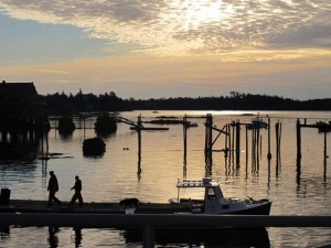 In the early morning quiet and soft golden light, North Haven is especially enticing. Hilary Nangle photo