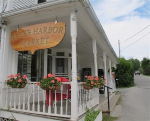 Buck's Harbor Market is a two-fer: in front is the market, out back is a restaurant serving dinner. Hilary Nangle photo.