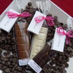 Brandied orange, mocha latte, and Maine potato chip are all chocolate bar flavors from Dean'sSweets, in Portland. Courtesy photo