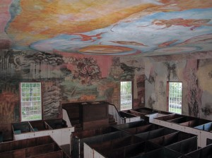 Be sure to take in the view from the choir loft, when visiting the South Solon Meeting House. Hilary Nangle photo