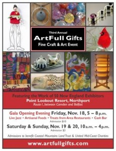 Find Artfull Gifts in Northport, Maine, in November