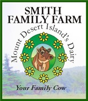 Smith Family Farm dairy products are made on Mount Dessert Island but widely available in Maine.