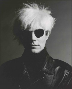 Greg Gorman's photo of Andy Warhol is on view at the Portland Museum of Art, Portland, Maine, through April 8, 2012.