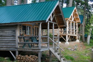 Spend a few days immersed in the wilderness, but without sacrtificing comfort or hot meals, with a stay at AMC's Maine Wilderness lodges. Gorman Chairback cabins. Credit: Herb Swanson, Courtesy of AMC