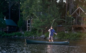 Cast a line in Long Pond, while staying at the AMC's Gorman Chairback lodge in Maine. Herb Swanson, Courtesy of AMC