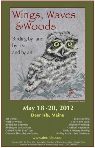 Birders flock to Deer Isle, Maine, for the annual birding and art festival in May.
