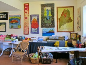 Maine's Schoodic Peninsula region is peppered with artists studios and galleries, such as Chapter Two, in Corea. Hilary Nangle photo.