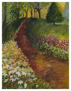 Don't miss the 2013 Spring Garden Tour on MDI and take a chance on this original painting.