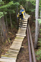Sunday River, in Bethel, Maine, has a lift-assisted mountain biking park.
