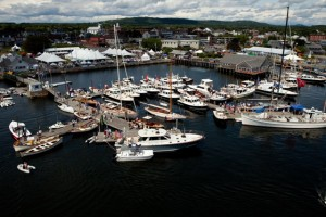 The Maine Boats & HArbors Show takes place each August in Rockland, Maine. Credit Jeff Scher.