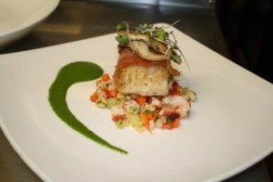 The inn by the sea participates in the Out of the Blue program promoting sustainable seafood in Maine.