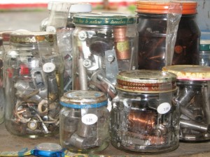 Seeking just one nut or bolt, find it in one of the grab-bag jars at Liberty Tool. Hilary Nangle photo.