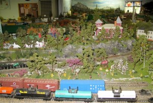 If the open sign is flying, don't miss the Maine Central Model Railroad in Jonesport, Maine. Hilary Nangle photo.