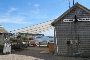The Corea Wharf Gallery is in a repurposed fish shack on Corea Harbor. Hilary Nangle photo