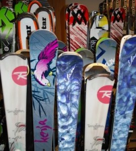 Act quickly if you want to score skis from Saddleback's demo sale.