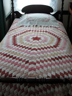 "19th-century quilts are part of the exhibit ""Keeping Warm"" at the Penobscot Marine Museum in Searsport. Museum photo."