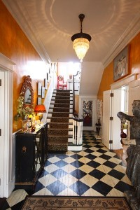 Contemporary art, handpainted walls and floors, and antiques mix at Portland's Pomegranate Inn. Courtesy photo.