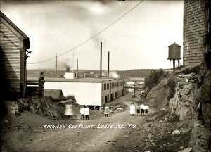 An exhibit of historical postcards drawn from the Penobscot MArine Museum's collection will be at the Cherryfield library through March 2013.