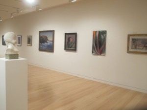 A peak inside the new Alfond Lunder wing of the Colby Museum of Art. Hilary Nangle photo.