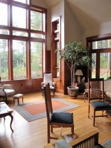 Big windows let in plenty of natural light at Crocker House Inn, Bethel, Maine.Hilary Nangle photo