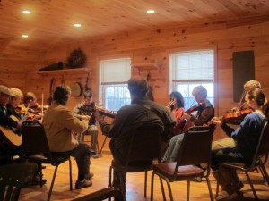 Before every concert at Skye Theatre, traditional musicians are invited to a community jam session. Hilary Nangle photo