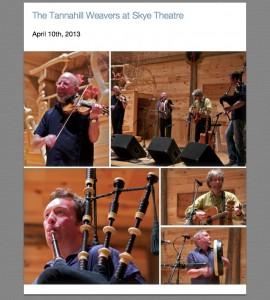 Tannahill Weavers at Skye Theatre, courtesy Ed Rosenberg for Skye Theatre.