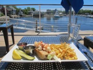 David's KPT, lobster roll on the deck. Hilary Nangle photoIMG_2013